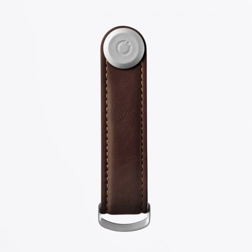 Orbitkey - 2.0 Leather Espresso With Brown Stitching