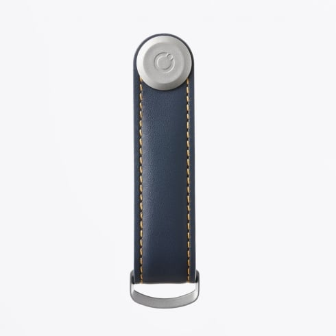 Orbitkey - 2.0 Leather Navy With Tan Stitching