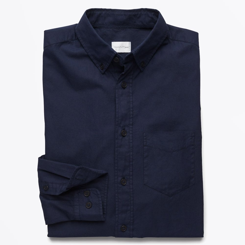 footwear clearance prices lowest price Gant Rugger - Organic Garment Dyed Oxford Shirt - Evening Blue