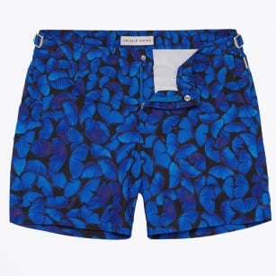| Bulldog Fauna Butterflies Print Swim Shorts - Navy
