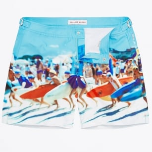 | Bulldog Happy Sandboys Photographic Mid-Length Swim Short