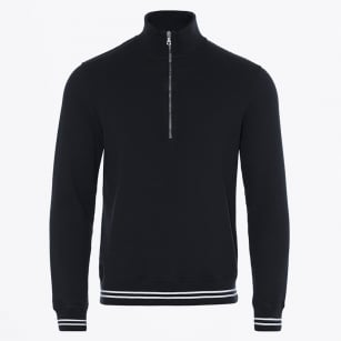 | Hewson Tipping Waffle Sweatshirt - Navy/White