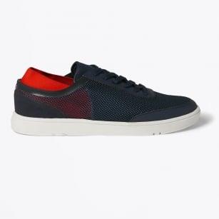 | Larson Navy/Rescue Red Laced Aqua Shoe