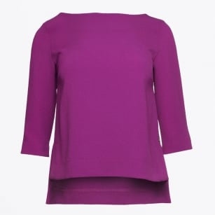 | 3/4 Sleeve Crepe Top - Viola