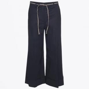 | Belted Culottes - Blu