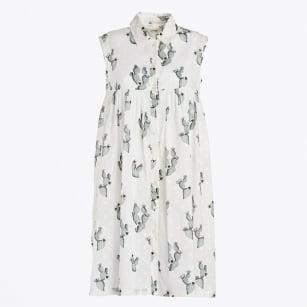 | Cactus Print Sleeveless Dress - Unica