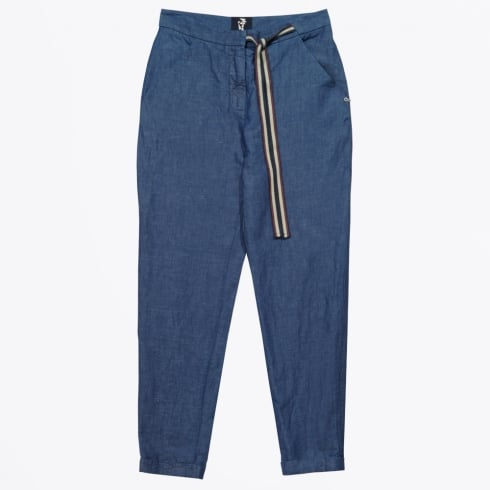 Ottod'Ame - Cropped Tie Waist Trousers - Denim