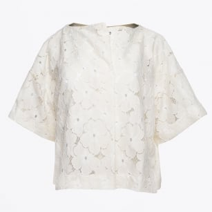 | Floral Lace Top - Naturale