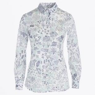 | Flower & Garden Print Shirt - Verde
