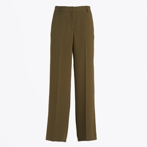 Ottod'Ame - Loose Wide Leg Trousers - Olive