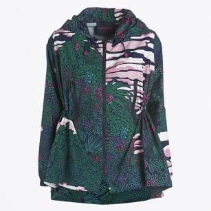| Printed Zip Front Jacket - Blu
