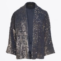 - Sequin Bolero Jacket - Petrolio