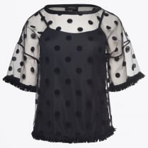 - Sheer Spotted Top -  Unica