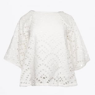| Shell Lace Top - Bianco