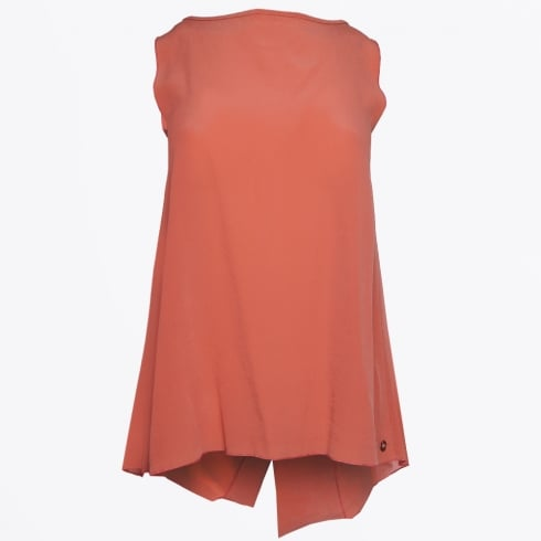 Ottod'Ame - Sleeveless Crossback Top - Coral