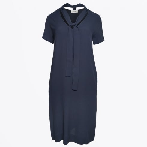 Ottod'Ame - Tie Neck Dress - Blu