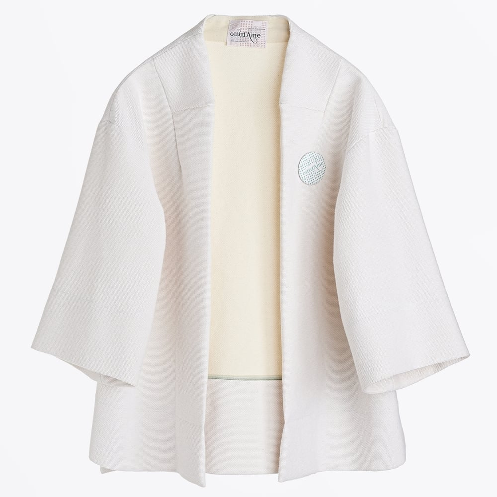 dacccec3a Ottod'Ame - Wide Sleeve Boxy Jacket - Cream