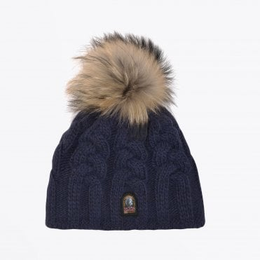 - Cable Knit Hat - Navy
