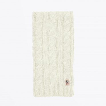- Cable Knit Scarf - Off White