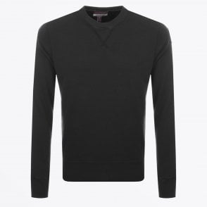 - Caleb Crew Neck Sweatshirt - Black