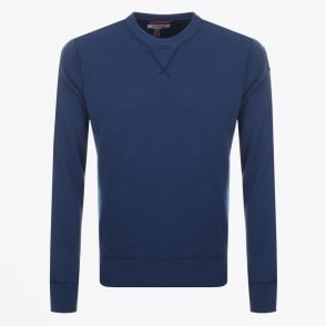 - Caleb Crew Neck Sweatshirt - Blue