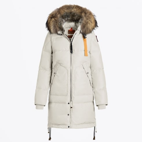 Parajumpers - Long Bear Fur Parka - Chalk