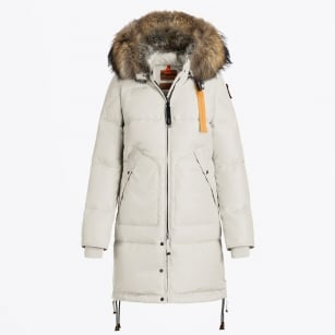 - Long Bear Fur Parka - Chalk