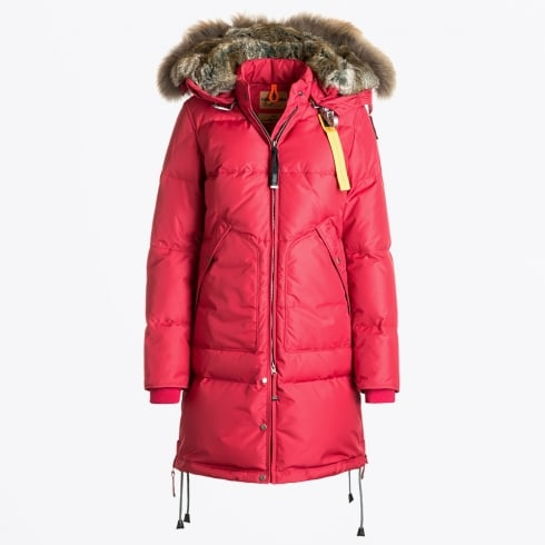 Parajumpers - Long Bear Fur Parka - Dark Red