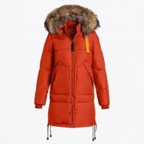- Long Bear Padded Coat - Paprika