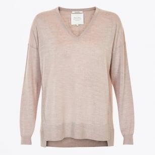 | Adesina - V Neck Knitwear - Camel