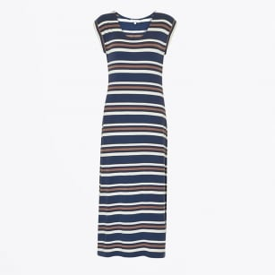| Alveas Stripe Maxi Dress - Dark Blue