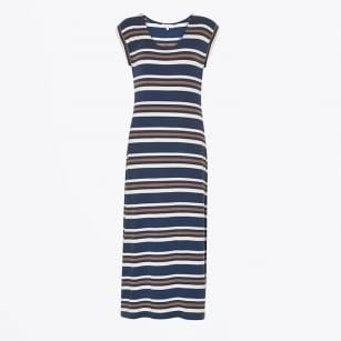 | Alveas Stripe Maxi Dress - Dark Blue
