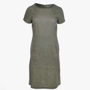 | Aundrea Linen Dress - Deep Lichen