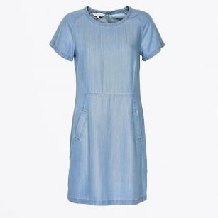 - Aundreas Denim Shift Dress - Light Blue