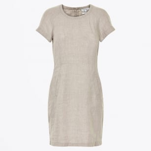 | Aundreas Linen Dress - Moonbeam