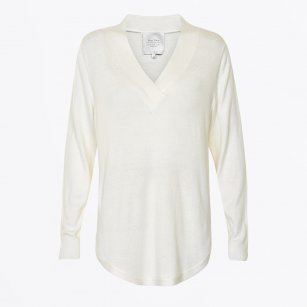 | Catti V Neck Pullover - Cream