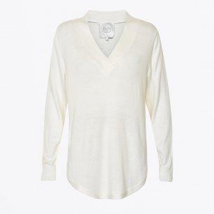 | Catti V Neck Pullover - Cream