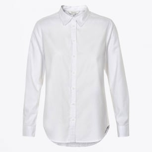 | Chrissie Oxford Cotton Shirt - Bright White
