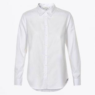| Chrissie Oxford Cotton Shirt - Bright White