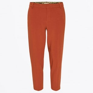 - Clea - Ankle Length Suit Pants - Orange