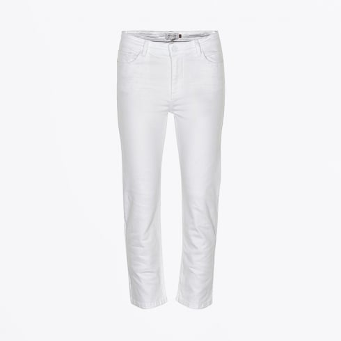 Part Two - Delta Cropped Flare Jean - White
