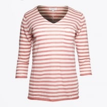 | Dosta V Neck Stripe Top - Light Pink