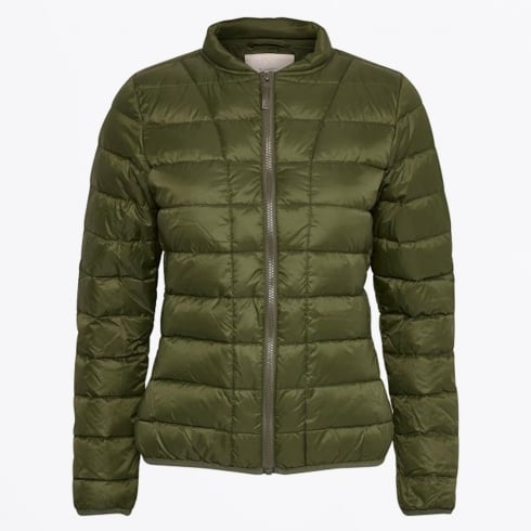 Part Two - Downie Quilt Jacket - Dark Olive