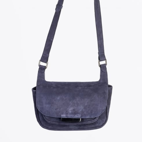 Part Two - Edita Cross Body Suede Bag - Night Sky