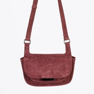 | Edita Cross Body Suede Bag - Red