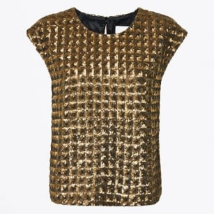 | Edna Sequins Top - Gold