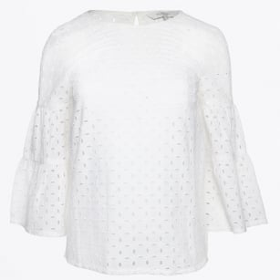 | Havila Frill Blouse - Bright White