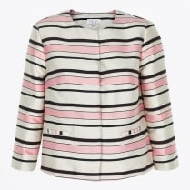 - Hazel Striped Jacket - Pink / White