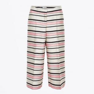 - Hea Striped Trousers - Pink / White