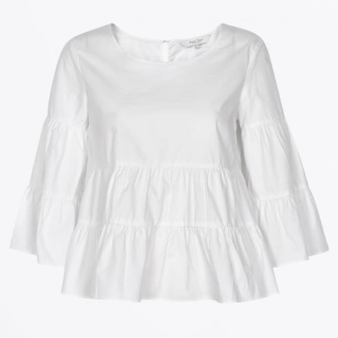 Part Two - Henricka Frill Blouse - Bright White